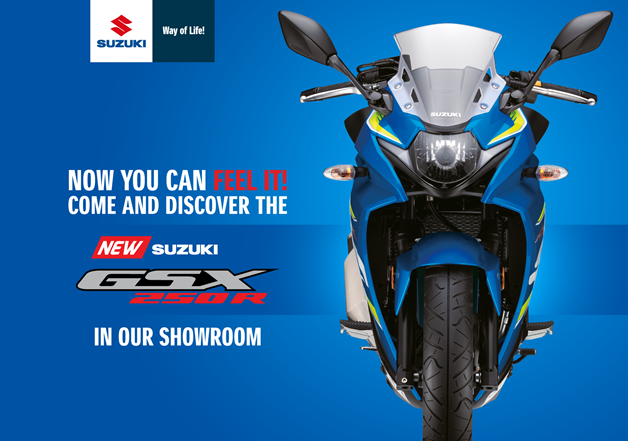 COME AND DISCOVER THE SUZUKI GSX250R!