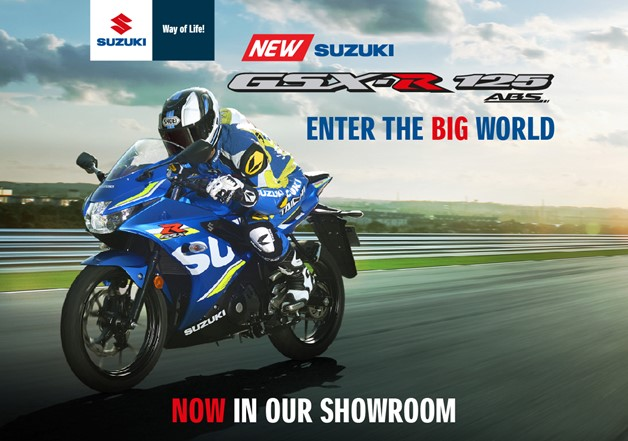 Enter the BIG world with the NEW SUZUKI GSX R 125
