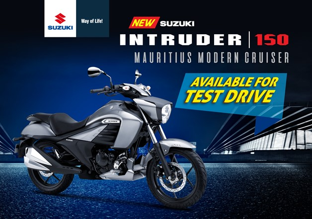 New arrival at Emcar Motorcycles! Try the brand new INTRUDER 150!